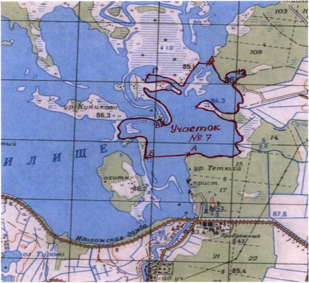 Карта Иваньковского